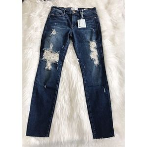 NWT Frame Denim Le High Skinny Raw Hem Jeans